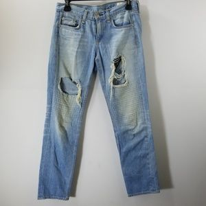 Rag & Bone/Jean Blue Distressed Boyfriend Jeans 24